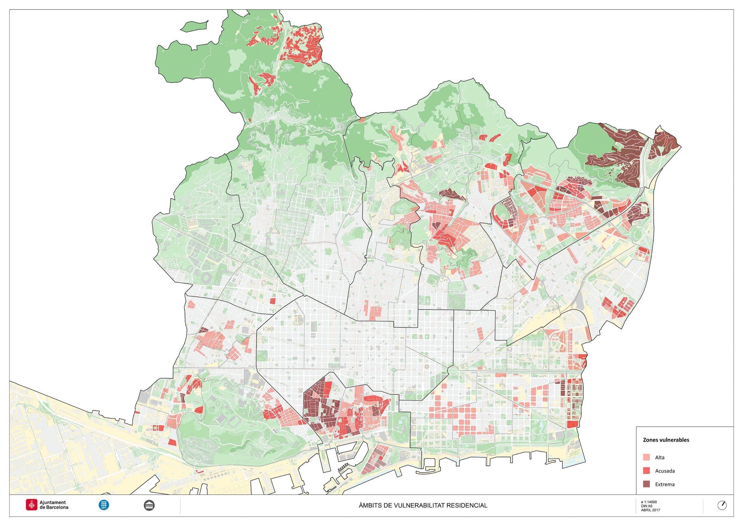 Estudio y detección de ámbitos de vulnerabilidad residencial en la ciudad de Barcelona