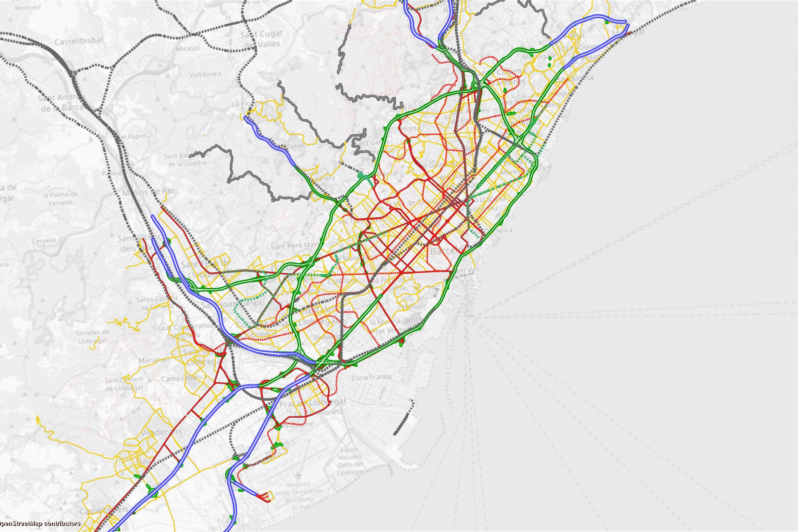 Finaliza la 2ª fase de la modelización del transporte de la Primera Corona de Barcelona